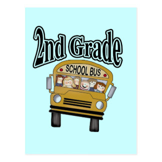 School Bus 2nd Grade Tshirts and Gifts Postcard