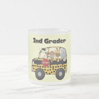 School Bus 2nd Grader Tshirts and Gifts 10 Oz Frosted Glass Coffee Mug