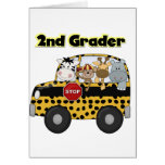 School Bus 2nd Grader Tshirts and Gifts Greeting Cards