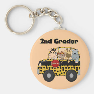 School Bus 2nd Grader Tshirts and Gifts Keychain