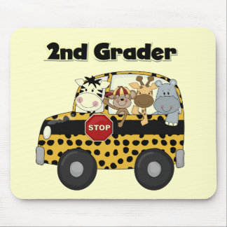 School Bus 2nd Grader Tshirts and Gifts Mouse Pad