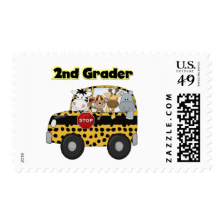 School Bus 2nd Grader Tshirts and Gifts Postage Stamp