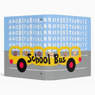 School Bus 3 Ring Binder