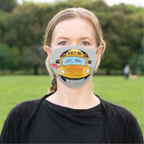 School Bus Adult Cloth Face Mask