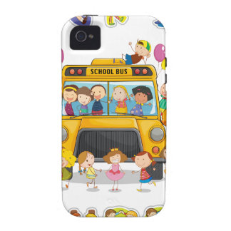 school bus and english word back to school vibe iPhone 4 covers
