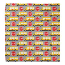 School Bus and Stop Sign Bandana