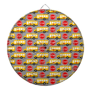 School Bus and Stop Sign Dartboards