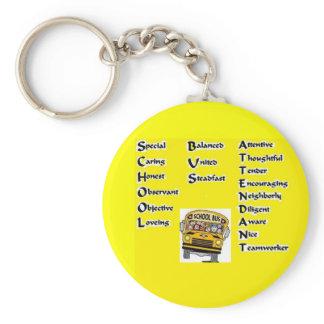 School Bus Attendant Keychain