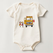 School Bus Baby Bodysuit