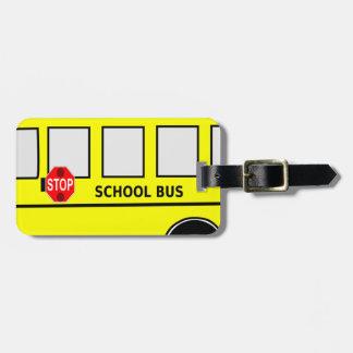 School Bus Bag Tag