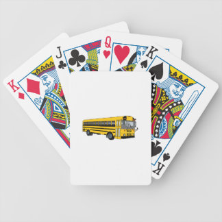School Bus Bicycle Playing Cards