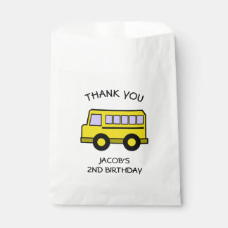 School Bus Birthday Favor Bag