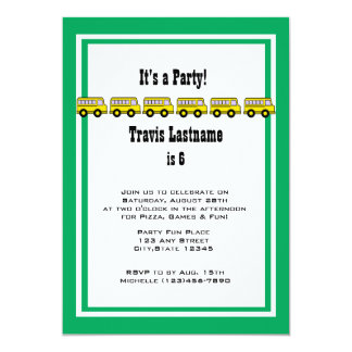 School Bus Birthday Party Card