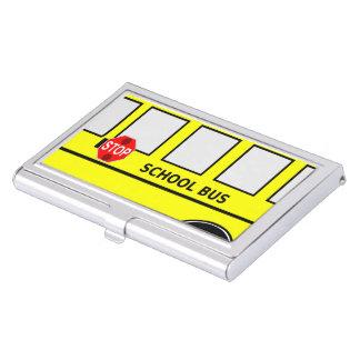 School Bus Business Card Case
