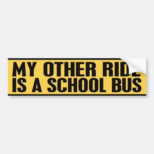 SCHOOL BUS CAR BUMPER STICKER