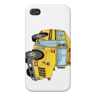 School Bus Cartoon Cover For iPhone 4