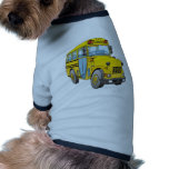School Bus Cartoon Dog Clothes