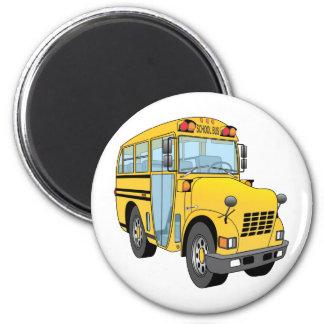 School Bus Cartoon Magnet