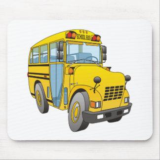 School Bus Cartoon Mouse Pad