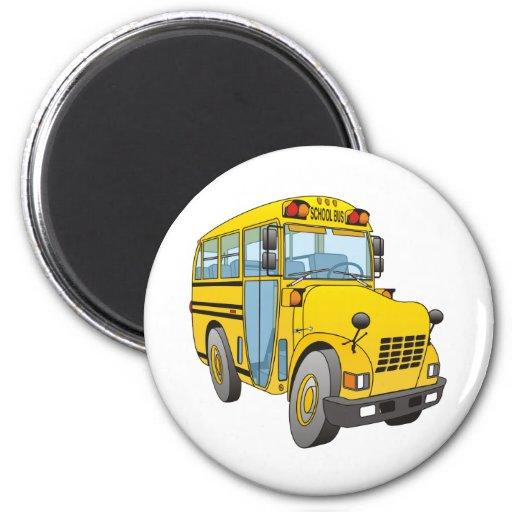 School Bus Cartoon Refrigerator Magnet
