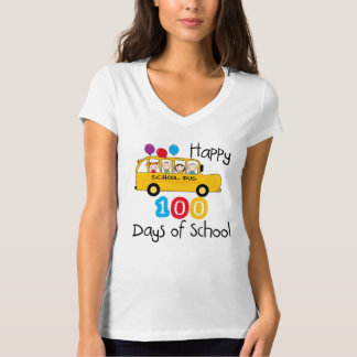 School Bus Celebrate 100 Days Tees
