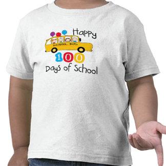 School Bus Celebrate 100 Days T Shirts