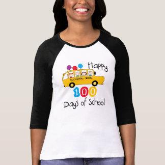 School Bus Celebrate 100 Days T Shirt