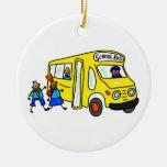 School Bus Christmas Tree Ornaments