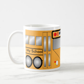 School bus coffee mug