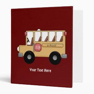 School Bus (Customizable) Binder