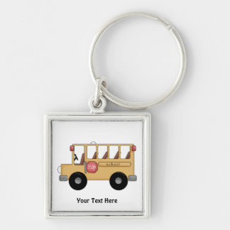 School Bus (Customizable) Keychain