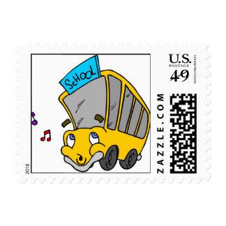 School Bus Drawing Postage