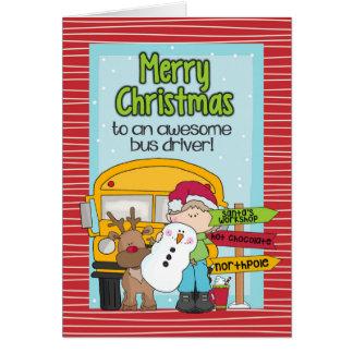 School Bus Driver Christmas Card