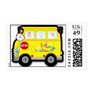 school bus christmas cards school bus christmas card templates postage invitations. Black Bedroom Furniture Sets. Home Design Ideas