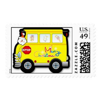 school bus christmas cards school bus christmas card templates postage invitations. Black Bedroom Furniture Sets. Home Design Ideas