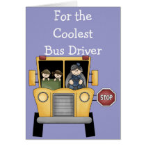 School Bus Driver Customizable Greeting Card