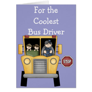 School Bus Driver Customizable Greeting Card