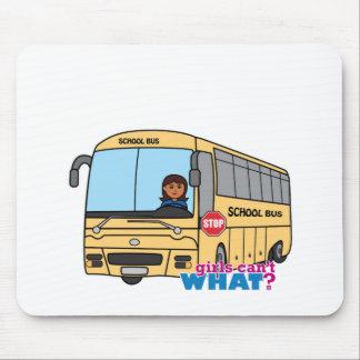 School Bus Driver Dark Mousepad