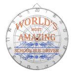 School Bus Driver Dartboard With Darts