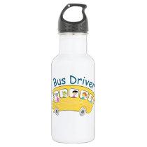 School Bus Driver - Female Water Bottle