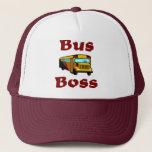"School Bus Driver Hat.  Bus Boss. Trucker Hat<br><div class=""desc"">School Bus Driver Hat.  Bus Boss.</div>"