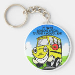 School Bus Driver Key Chain