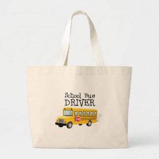 School Bus Driver Large Tote Bag