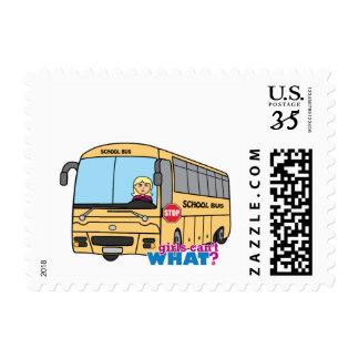 School Bus Driver Light/Blonde Postage