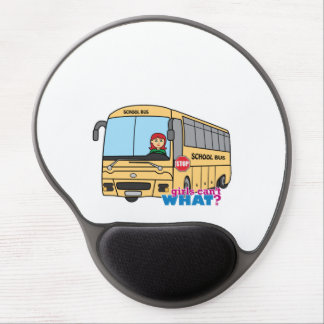 School Bus Driver Light/Red Gel Mousepads