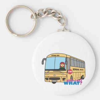 School Bus Driver Light/Red Keychain