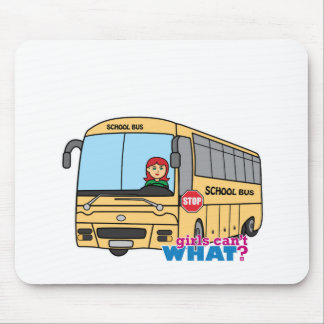 School Bus Driver Light/Red Mouse Pads