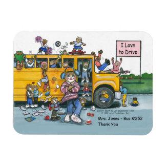 School Bus Driver Magnet, female driver Magnet