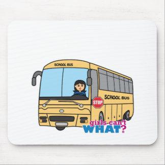 School Bus Driver Medium Mouse Pads
