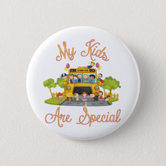 School bus driver My kids are special Pinback Button